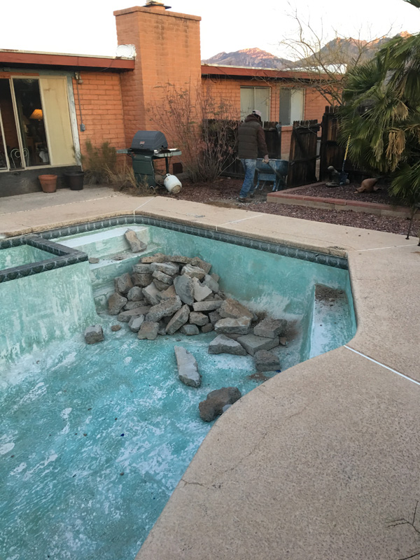 Pool Demolition Process in Tucson